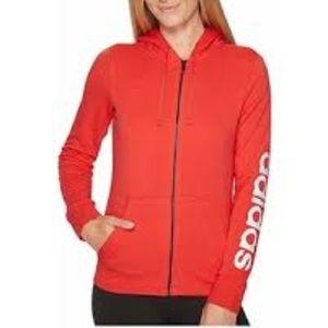 Adidas Coral zip up hoodie